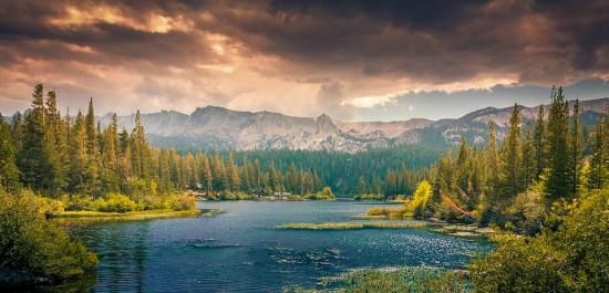 Mochilero, Naturaleza, Canadá, Lago