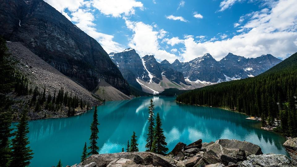 Mountañas, Lago, Natulareza, Canadá
