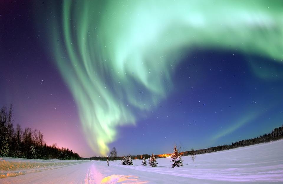 Aurora, Naturaleza, Alberta, Canadá