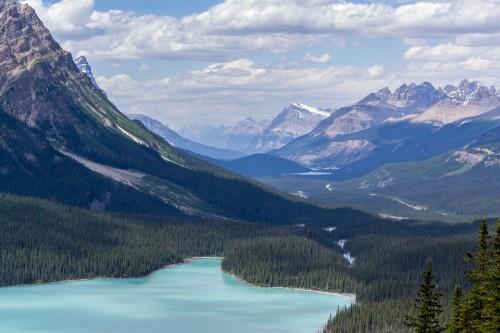 Mountañas, Lago, Naturaleza, Canadá