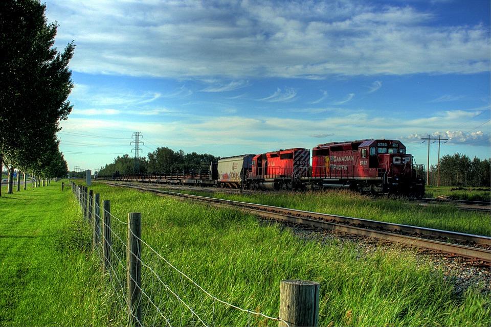 Naturaleza, Tren, Alberta, Canada