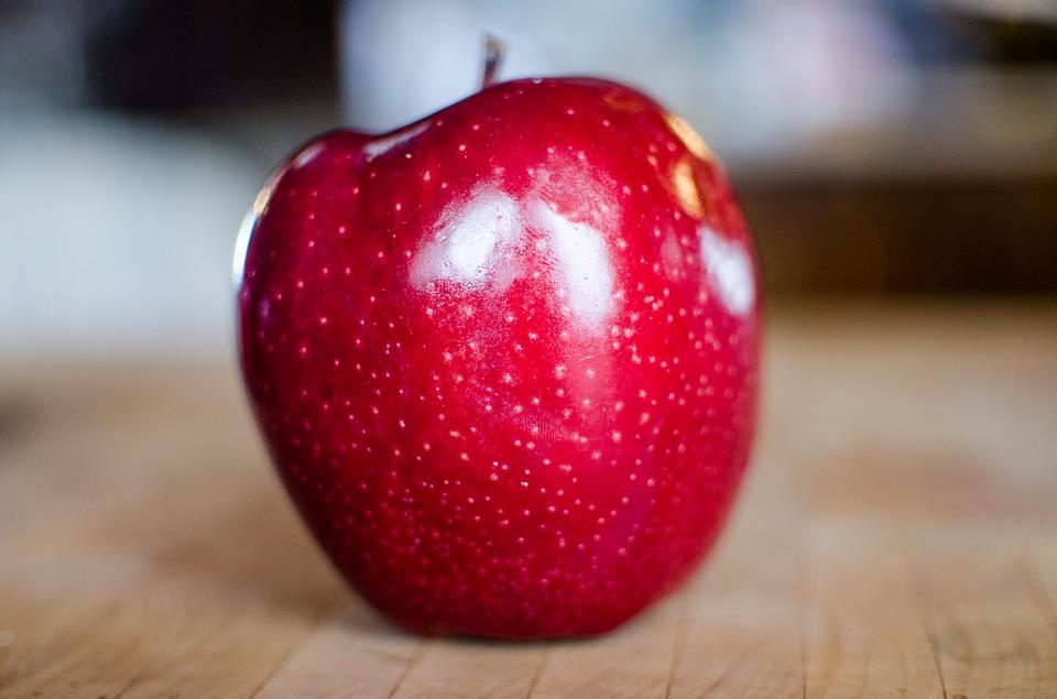 manzana, efecto, piel, bellaza