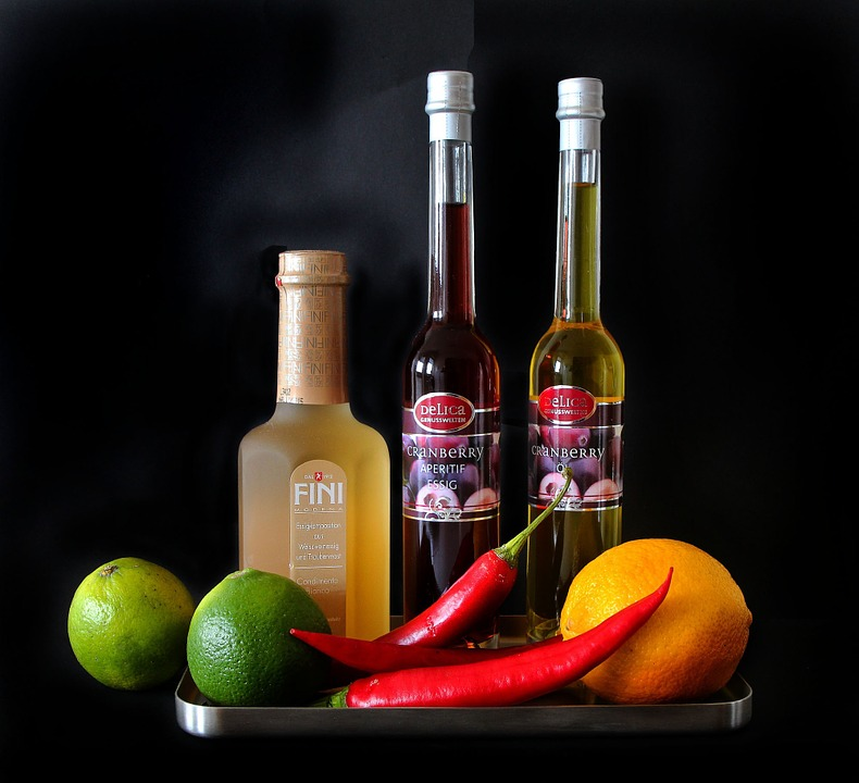 vinagre, frutas, bella, dieta