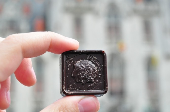 más del 70% del chocolate