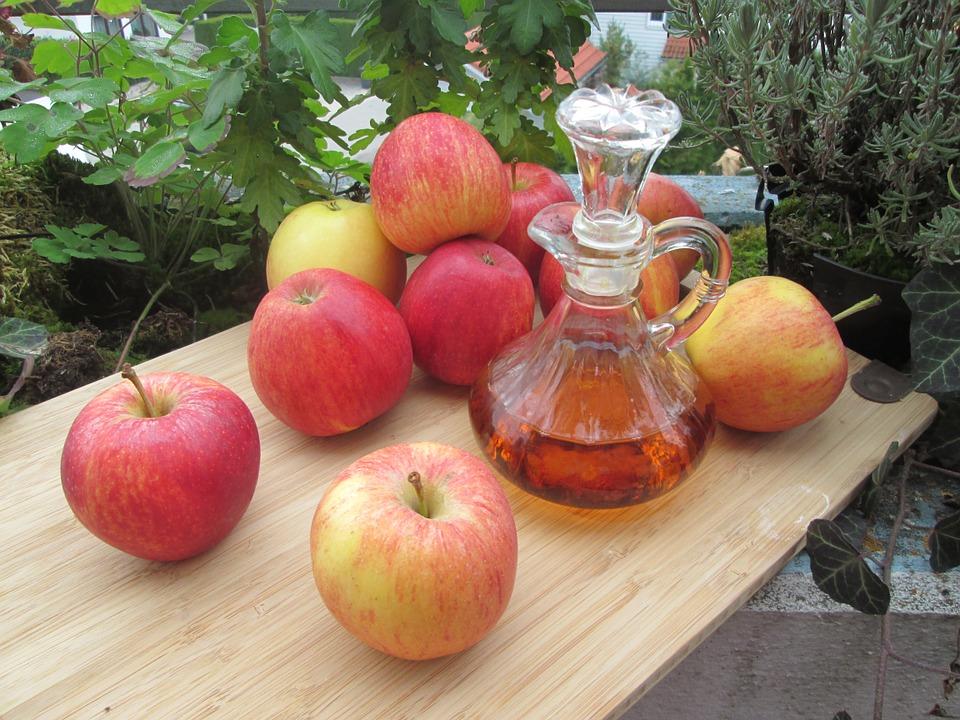 hermosa, efecto, dieta, el vinagre de manzana