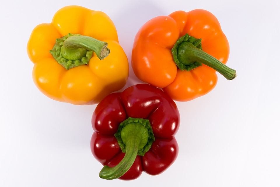pimientón, vitamina, dieta, anti-oxidación