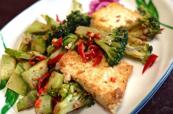 tofu con verduras