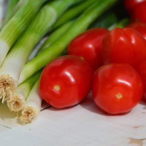 cebollas chinas, efecto, hermosa, dieta