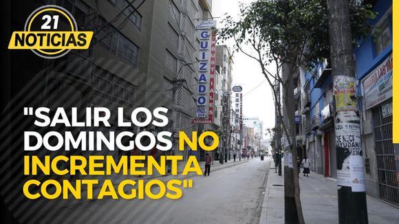 """Coronavirus en Perú: """"Salir los domingos no incrementa contagios"""""""