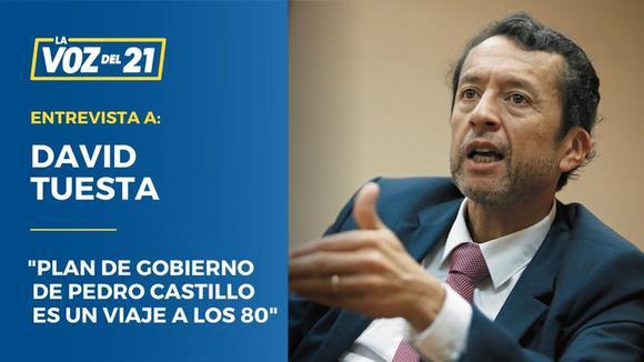 """David Tuesta: """"El plan de gobierno de Pedro Castillo es un viaje a los 80"""""""